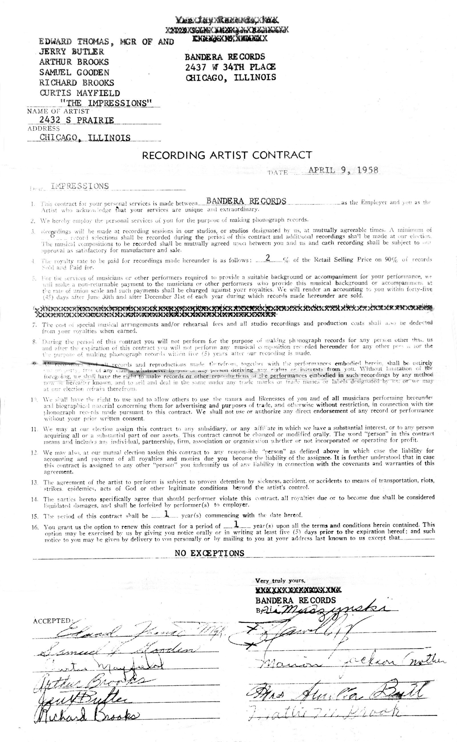 artist manager contract - Morningperson.co