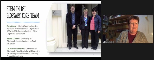 Gary Quinn, Rachel O'Neill and Audrey Cameron standing together.