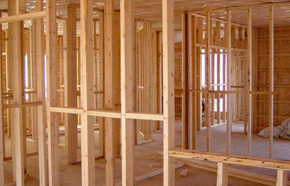 picture of wood house framing for home repair in medina ohio