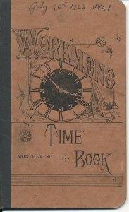 B&SR Workmen's Time Book, Jul 1923 - Nov 1924