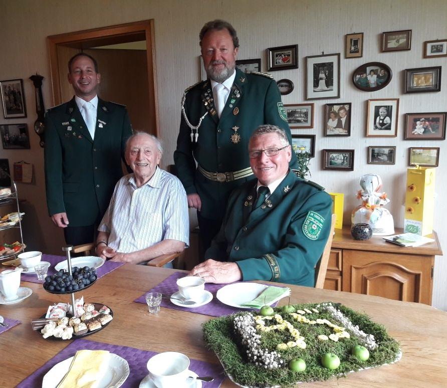(v.l.) Volker Ocklenburg, Wilhelm Temberg, Hans-Ulrich Walbrodt und Ernst Kempmann