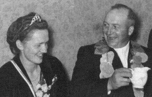 1954 - Königspaar: Kaspar Bruckmann und Irmgard Schulze-Hockenbeck
