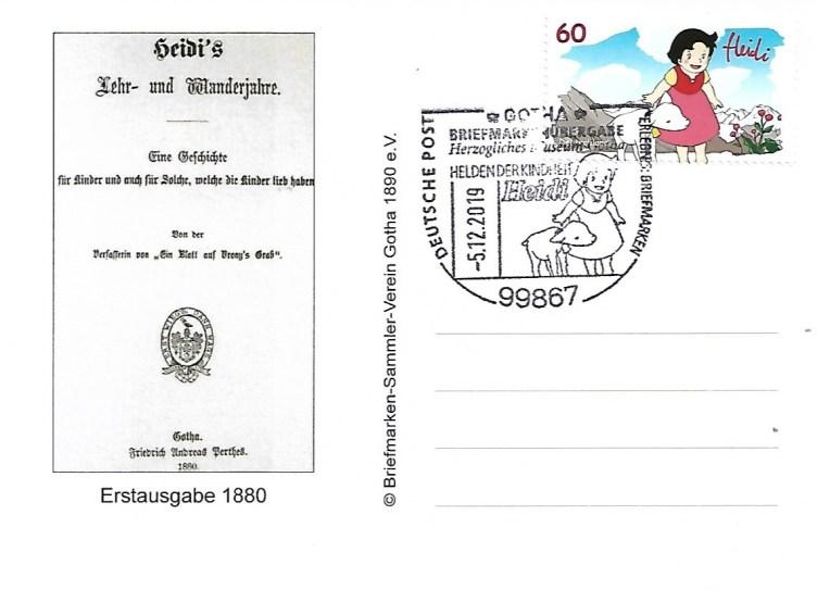 Briefmarkenübergabe Heidi