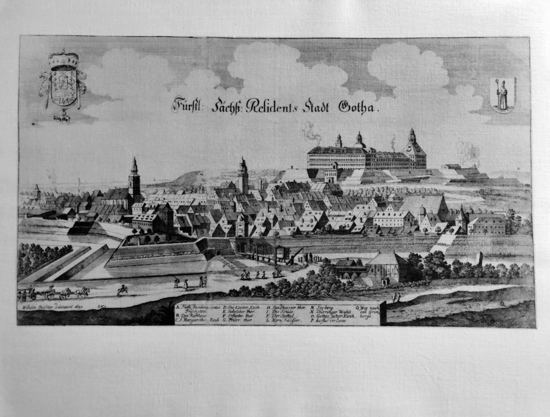 Fürstl. Sächß. Residens-Stadt Gotha 1690