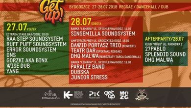 Photo of Get Up! Bydgoszcz / Reggae / Dancehall / Dub // 27-28 lipca 2018