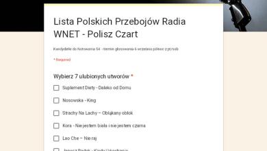 Photo of Lista Polskich Przebojów Radia WNET – Polisz Czart