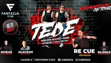 Photo of ★ Karmagedon On Tour: Tede // Re Cue ★ 16.11 – Fantazja Jaświły