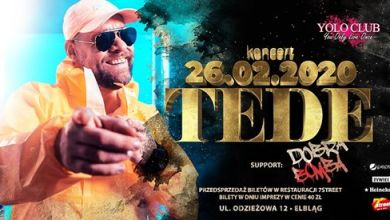 Photo of ★ TEDE live koncert / Support DOBRA BOMBA ★