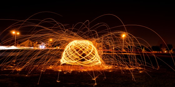 The Orb - Light Painting Outdoor