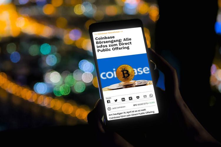 Coinbase Börsengang: Coinbase-Startpreis gesetzt