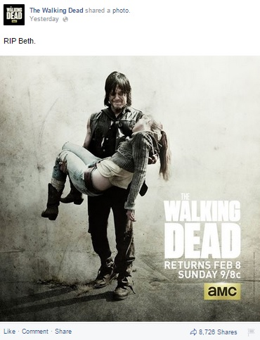 RIP Beth Walking Dead