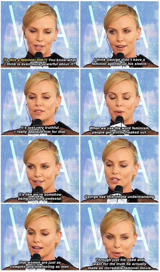 Charlize Theron Feminist Mad Max Response