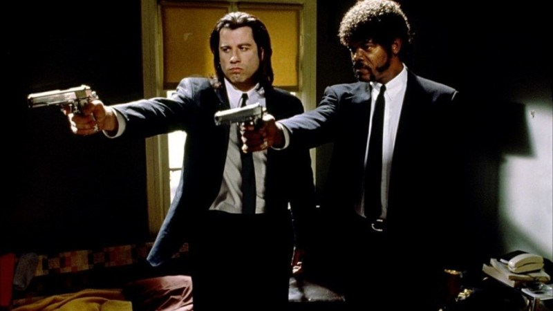 Pulp Fiction Pointing Guns