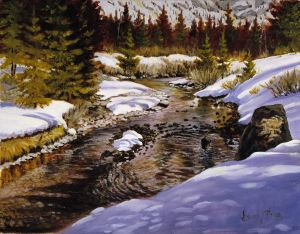 "Mountain Stream"" Oil 16x20 1200"