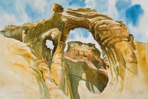 """Grosvenor Arch"" Watercolor giclee print on wc paper edition 50 16""x22"" 125.00"