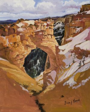 """Natural Bridge"" (Bryce Canyon Natl. Park) Oil on canvas giclee print on canvas 20""x16"" 100"