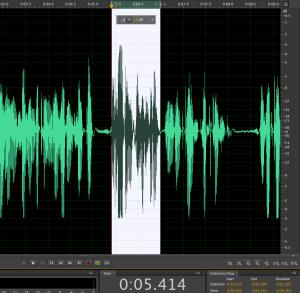مونتاج لملف البودكاست الصوتي قبل تصديره إلى mp3