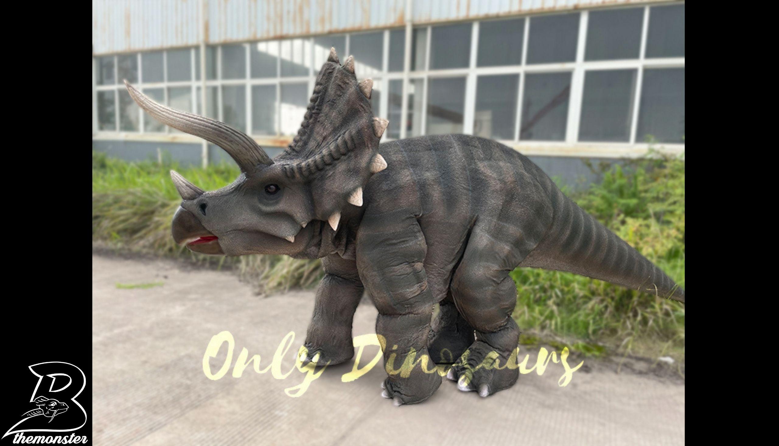 Vivid Single Man Triceratops Dinosaur Costume in vendita sul Bthemonster.com