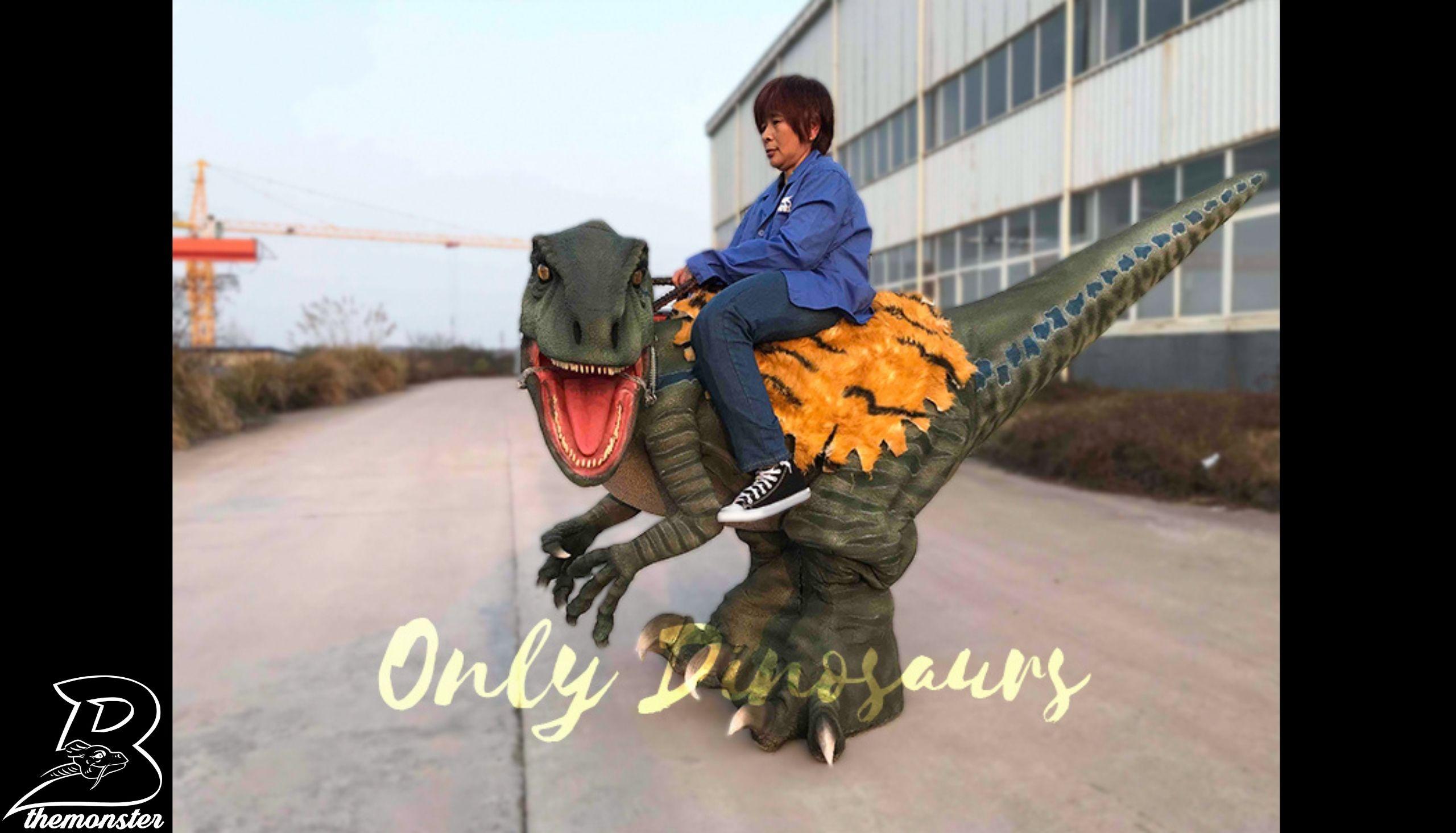 3Authentic Brown Stilt Velociraptor Dinosauro Costume Per Shop Bthemonster.com