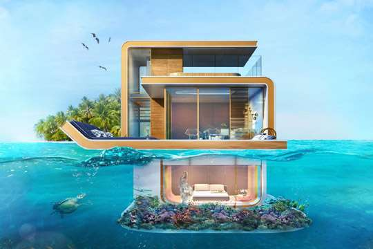 Appeared the first photos of luxurious underwater housing