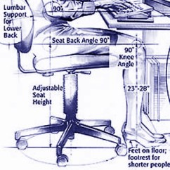 Ergonomic Chair Settings Double Wide How To Set Up An Ergonomically Correct Work Space Btod Com Office Bac Ergonomics Ladyedited