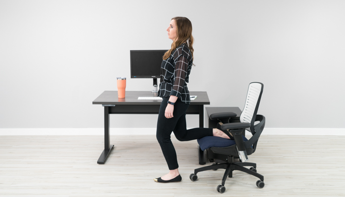 chair sit to stand exercise directors counter stool 12 stretches improve back pain at your desk standing quadriceps hip flexor stretch