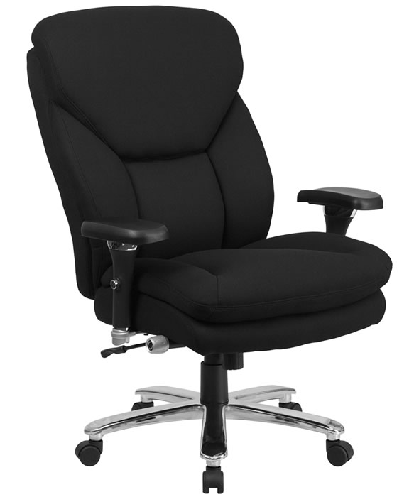 cloth office chairs chair rail corners without coping btod big and tall 24 7 fabric 25 wide seat rated for 400 lbs