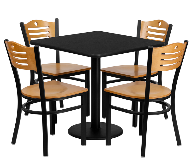 BTOD 30 Square Top Breakroom Table w Chairs