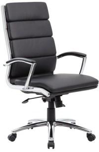 Boss Modern Leather Office Chair Chrome Base