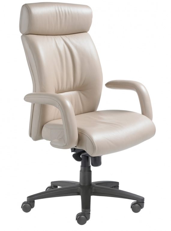 office chair high seat tall beach chairs nightingale manno 8600d back leather desk executive with waterfall design