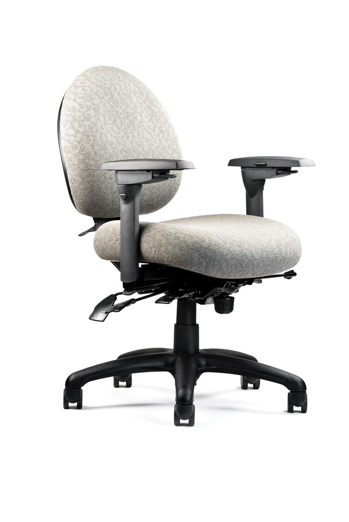 ergonomic computer chair salon covers black neutral posture mid back w lumbar 5000