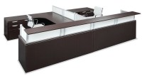 Office Source Borders II Series 2 Person Reception Desk