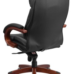 Wooden Leather Desk Chair Old Fashioned Rocking Chairs Uk Btod High Back Office Mahogany Wood Base