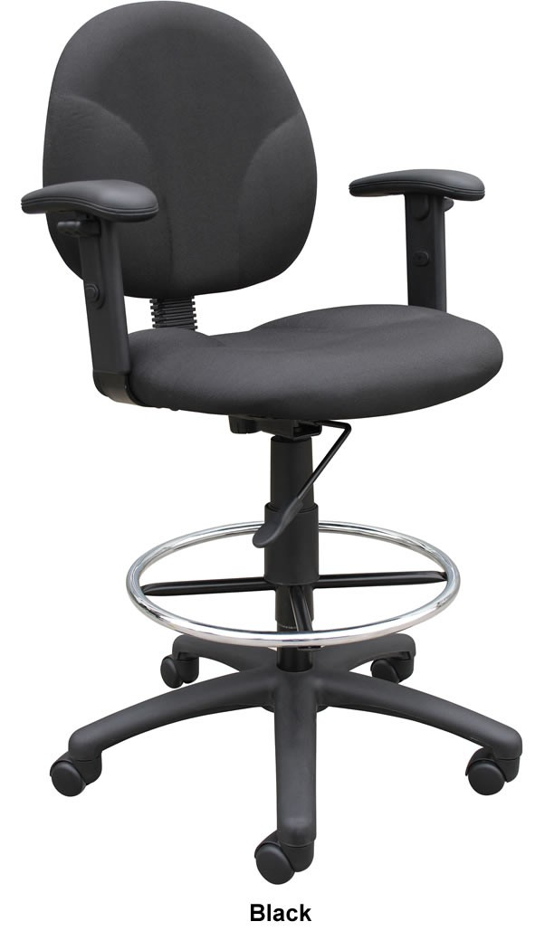 drafting chairs with arms folding beach chair footrest boss b1691 multi function stool on sale
