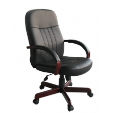 desk chair with wheels outdoor wicker rocking high back leather the best office chairs boss executive wood finish