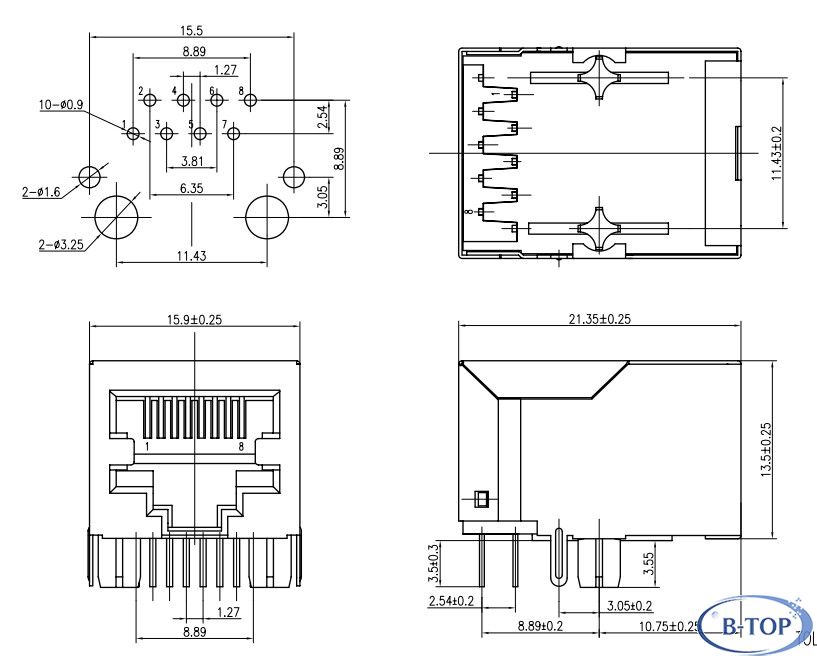 Rj45 Female Connector Wiring Diagram : Female Cat 5 Cable