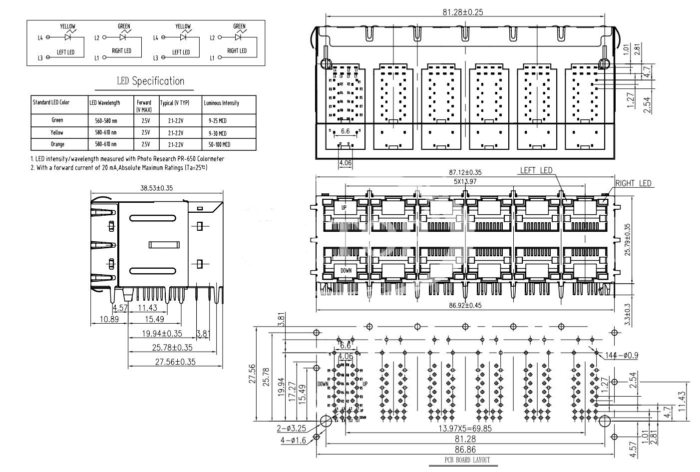 gigabit poe wiring diagram travel trailer battery 43 rj45 2x6 connectors with transformer 2xn