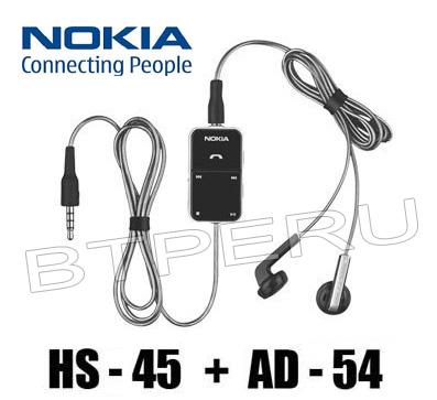 Audifonos Handsfree Nokia Hs-45 Ad-54 N9 N8 X6 N82 5800