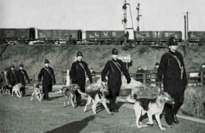 Armed Officers at Hull Docks, 1941
