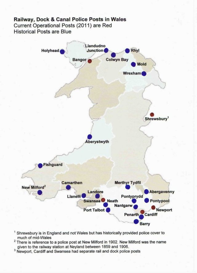 Wales police posts map