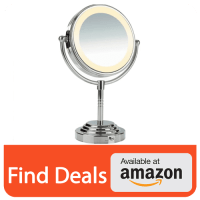 Conair Double Sided Lighted Makeup Mirror Reviews | Fay Blog