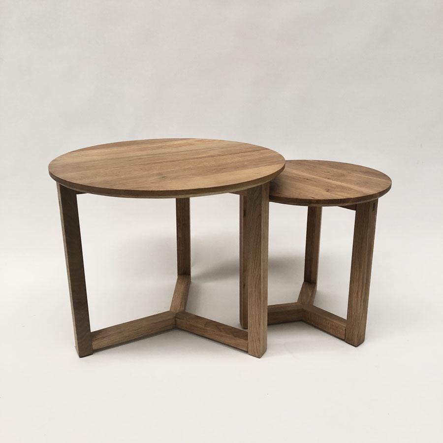 natural oak coffee table set