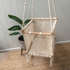 Swing Chair For 5 Year Old Round Christmas Covers Macrame Baby Toddler Bts Pop Up Shop Save