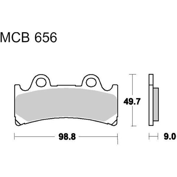 Bremsklotz Standard TRW MCB656 Bremsbeläge für Yamaha,Triumph