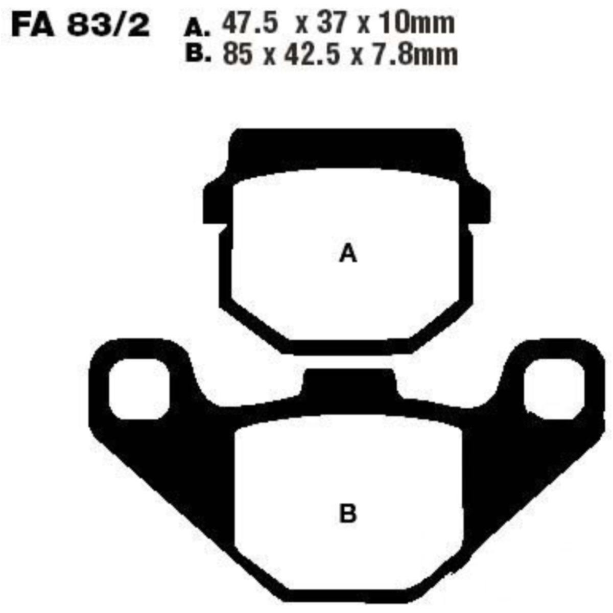 Bremsklotz Standard Scooter EBC SFA0832 Bremsbeläge