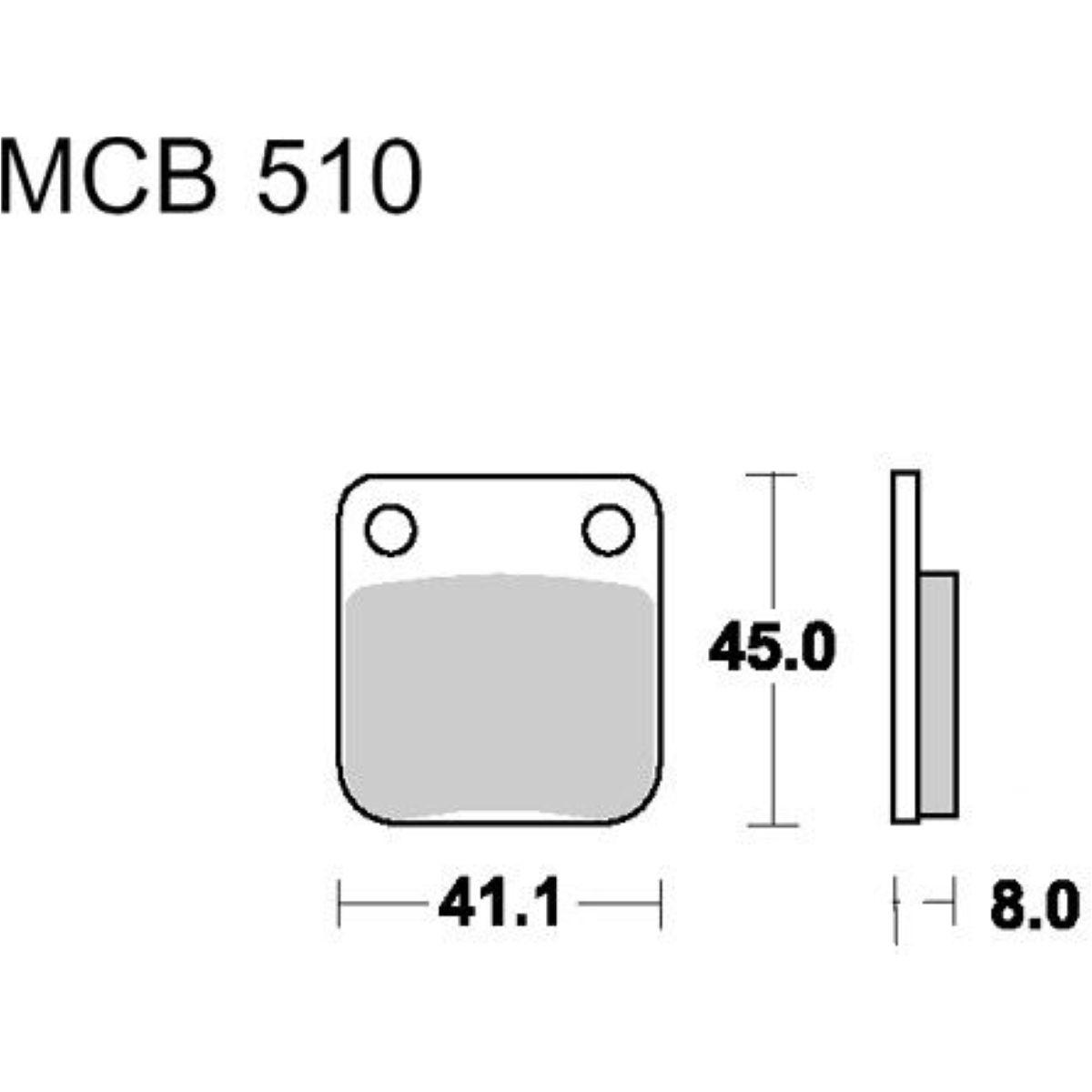 Bremsklotz Standard TRW MCB510 Bremsbeläge Sachs MadAss 649003
