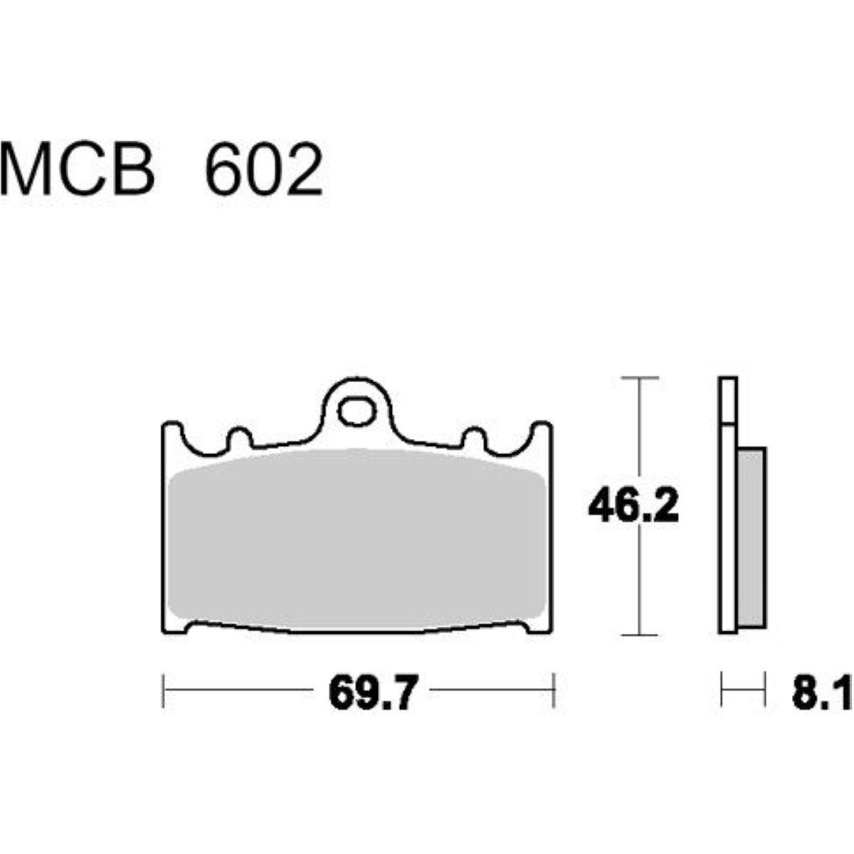 Brake pads std trw MCB602