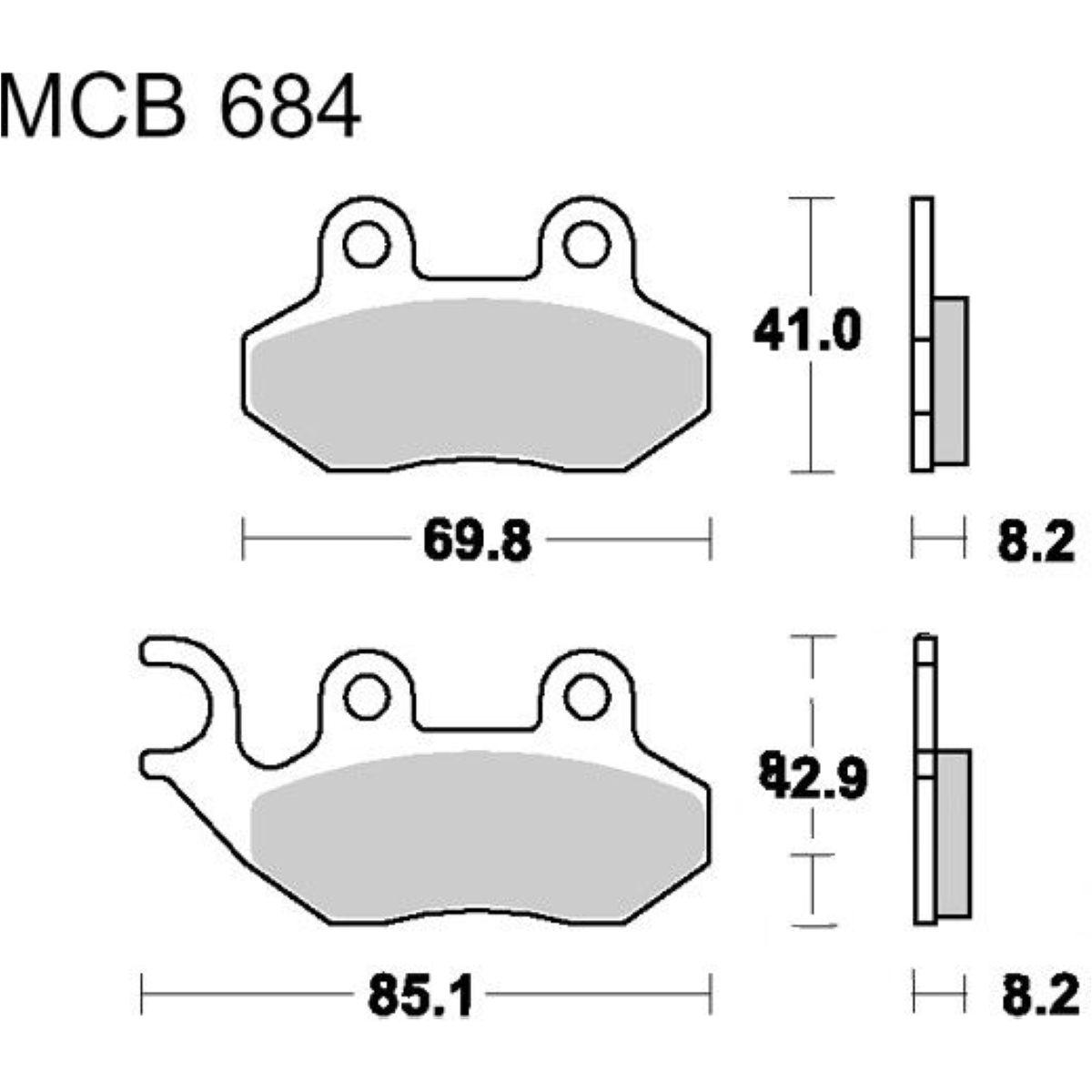 Brake pads scooter trw MCB684EC