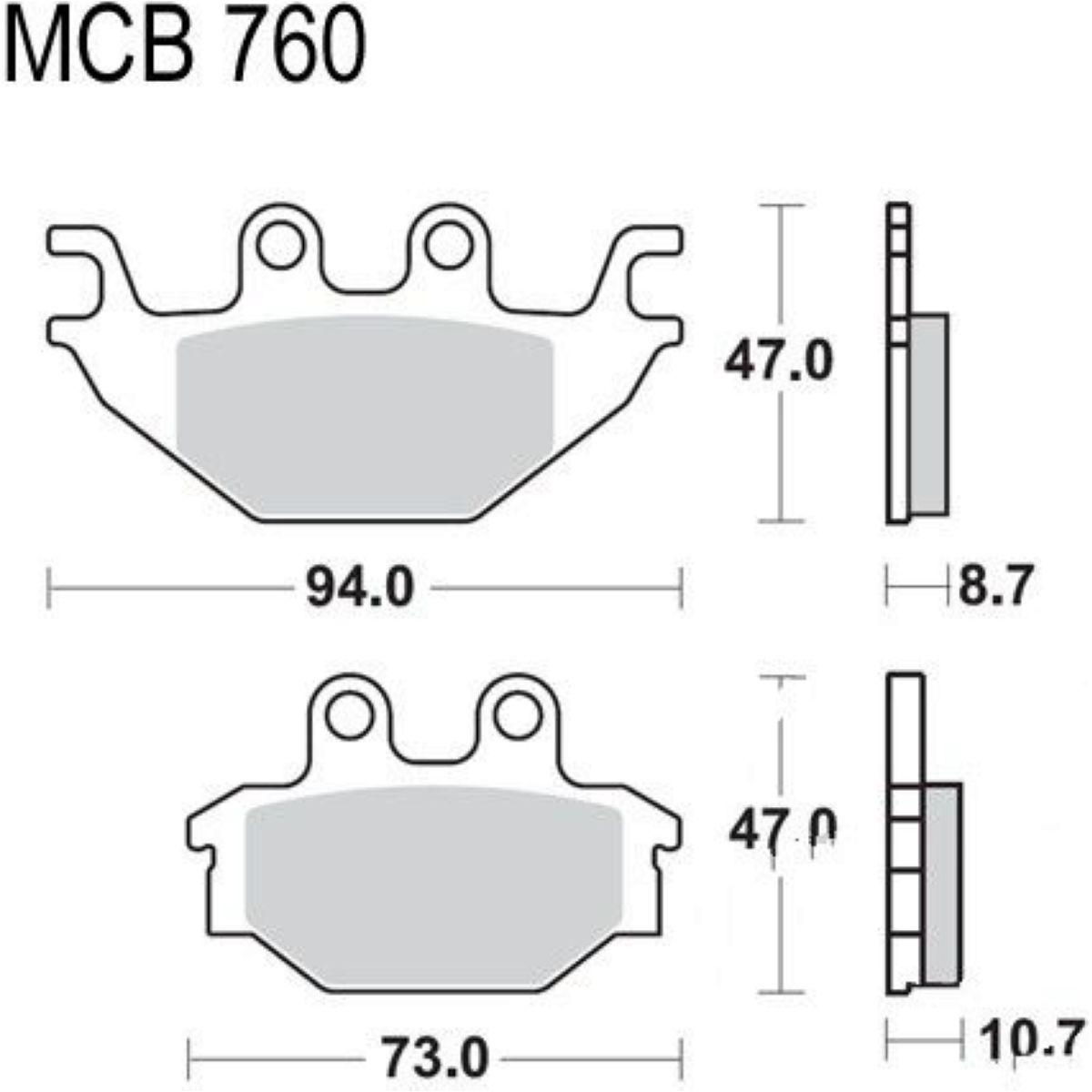 Bremsklotz Sinter SI TRW MCB760SI Bremsbeläge
