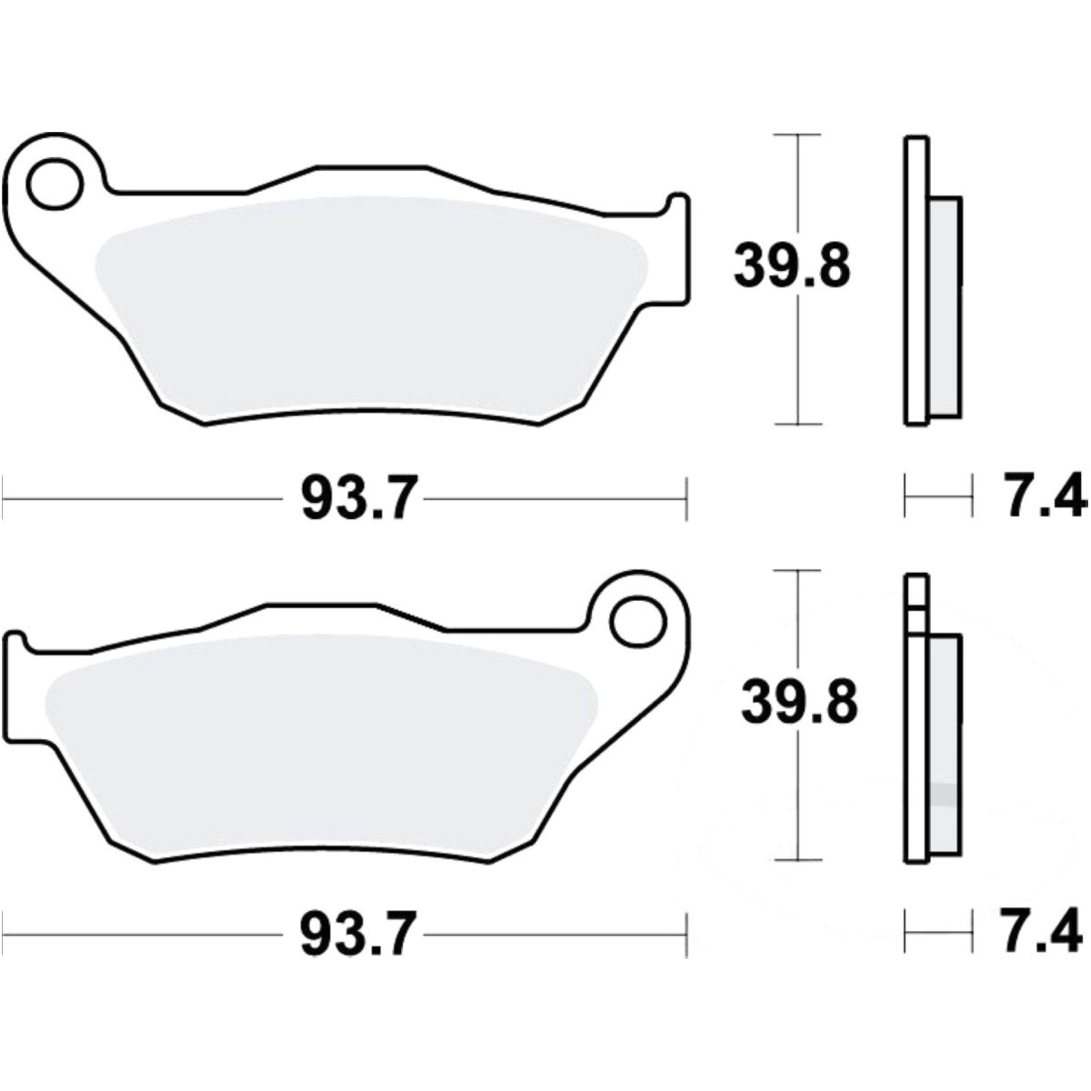 Brake Pads Vehicle Parts & Accessories Sintered Full Set